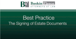 Best practice signing estate documents