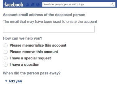 Facebook Deceased Person's Account
